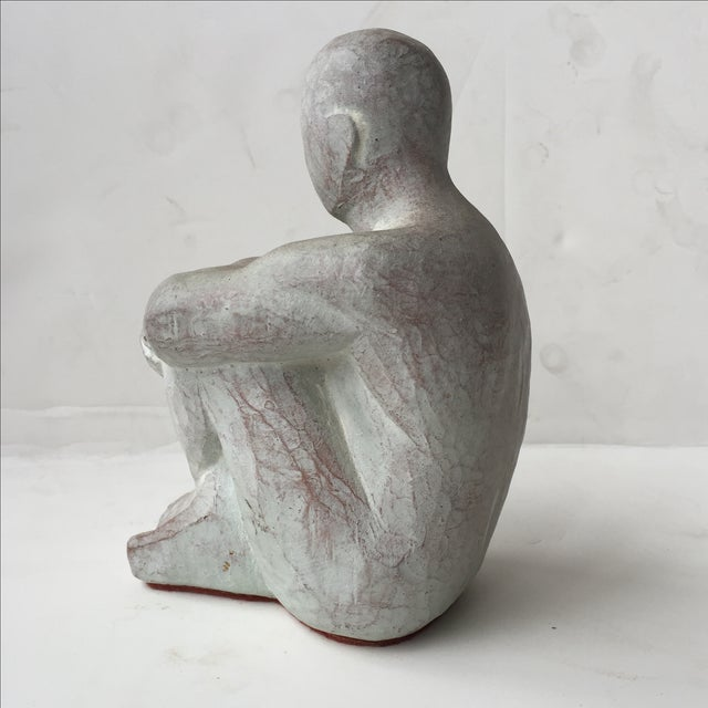 Men Seated Terra Cotta Sculpture - Image 2 of 11