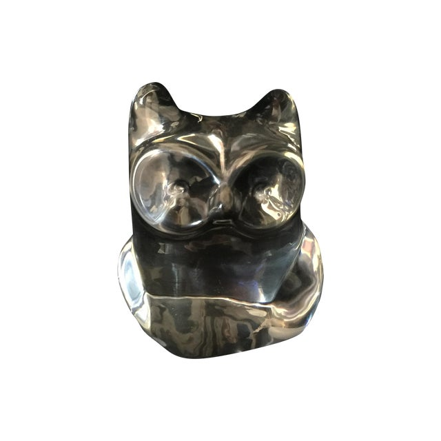 Orrefors Owl Paperweight - Image 1 of 3