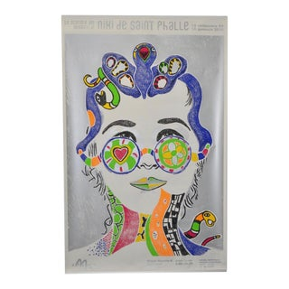 "Yann Legendre ""Niki de Saint Phalle"" Pencil Signed Poster Circa 2010"
