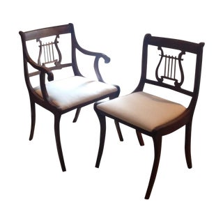 Lyre Back Chairs - Pair