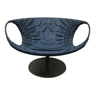 "Patricia Urquiola Moroso ""Smock"" Leather Swivel Chair"