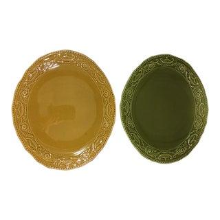 Vintage 1960's Regency Ironstone - Canonsburg Pottery Festive Platters - A Pair