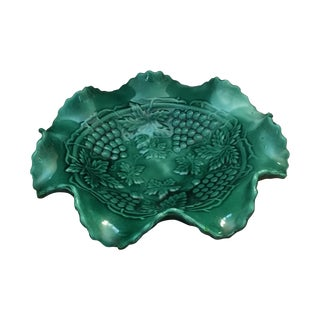 Green Grape Majolica Bowl