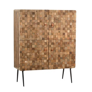 Reclaimed Wood Square Pattern Cabinet
