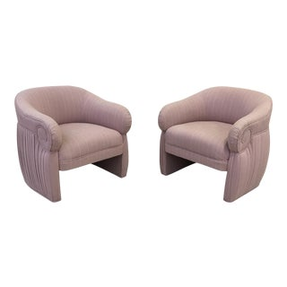Vintage Art Deco Inspired Blush Club Chairs- A Pair