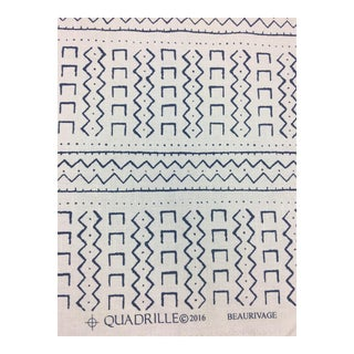 Quadrille Blue & White Fabric- 2 1/3 Yards