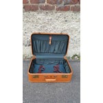 Image of 1950's Leather Suitcase Trunk