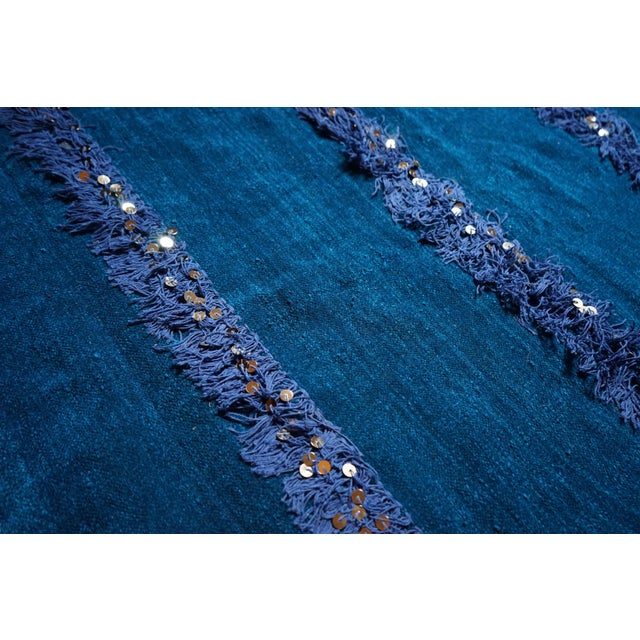 Handmade Blue Moroccan Rug - 3′6″ × 5′9″ - Image 3 of 4
