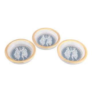 Neoclassical Design Jasper Ware Wedgewod English Mid Century Beverage Coasters - Set of 3