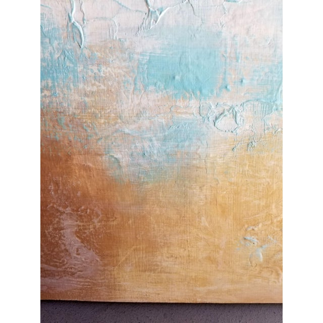 Original Textured Modern Art Landscape Painting - Image 3 of 4