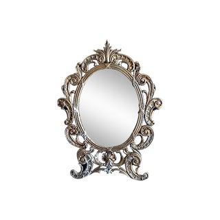 Vintage Iron Table Mirror