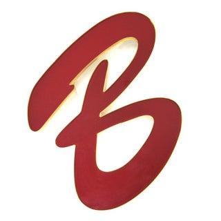Vintage Red Letter B