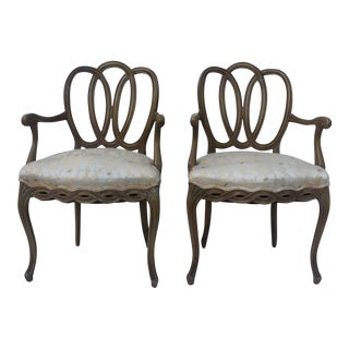 Hollywood Regency Dorothy Draper Style Arm Chairs- A Pair