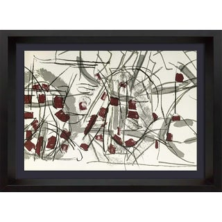 1974 Jean-Paul Riopelle Framed Original Double Lithograph in Color