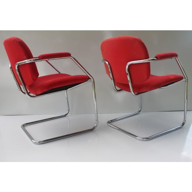 Mid-Century Chrome Accent Chairs - A Pair - Image 8 of 8