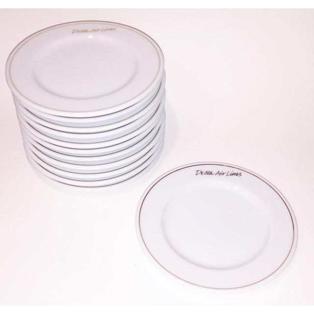 Gold Rim Delta Air Lines Plates - Set of 12 - Image 2 of 4