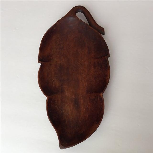 Image of Wood Palm Leaf Platter