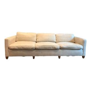 Vintage White Linen Sofa