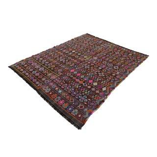 Wool Hand Woven Braided Rug - 5′5″ × 6′6″
