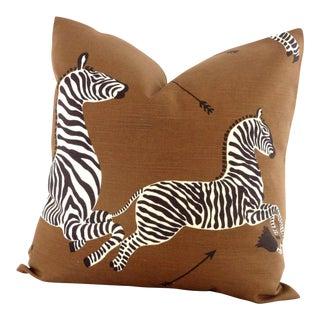 "Brown Scalamandre Zebra Decorative Pillow Cover - 20"" x 20"""