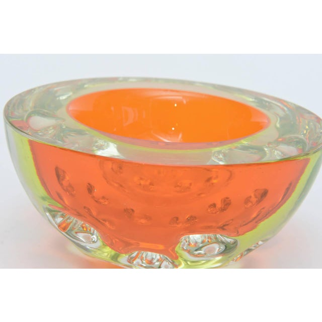 Rare Italian Murano Sommerso Dimpled Geode Glass Bowl - Image 2 of 9