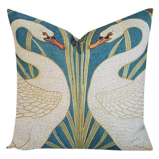 Stunning Double Swans Linen Feather/Down Accent Pillow