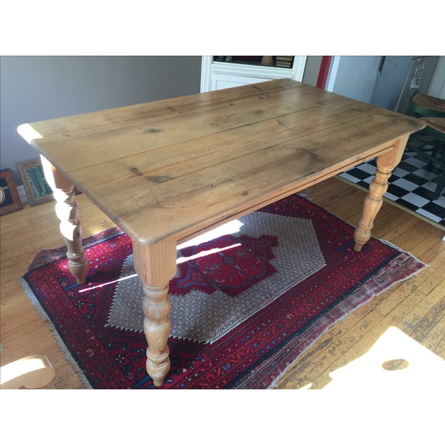 Pottery Barn Dining Table - Image 2 of 10