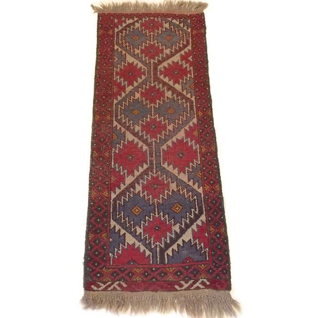 Vintage Handknotted Persian Runner - 1′9″ × 4′8″ - Image 5 of 6