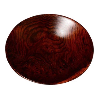 Solid Rosewood Decorative Plate