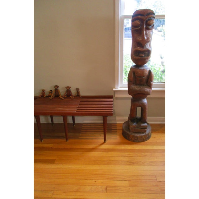 Carved Tiki Garden Statue - Image 6 of 7
