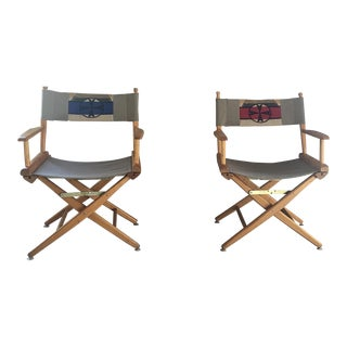 Folding Director's Chairs - A Pair