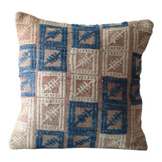 Vintage Turkish Kilim Wool Pillow Cover