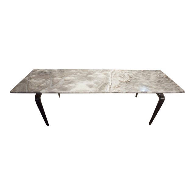 Excellent Custom Coffee Table With Onyx Top Decaso