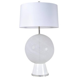 Large Murano Latticino Sphere Lamp