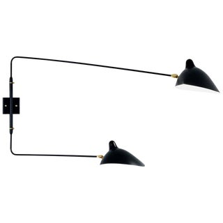 Serge Mouille Two Rotating Straight Arms Sconce Lamp