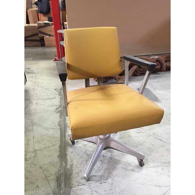 Vintage Yellow Office Chair - Image 3 of 7