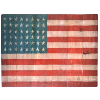 Wood Painted American Flag