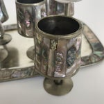 Image of Mexican Abalone & Silver Cordial Set - 7 Pieces