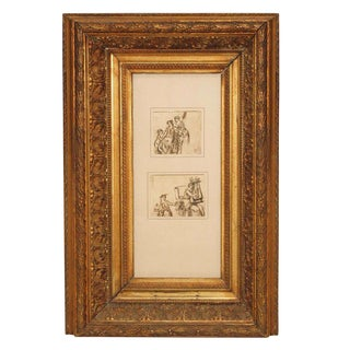 Early 19th Century Neoclassical Pen and Ink Drawings
