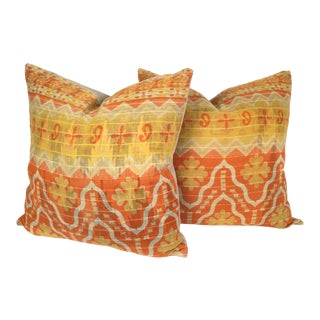 Vintage Kantha Quilt Pillows - a Pair