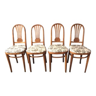 Bentwood Upholstered Chairs - Set of 4