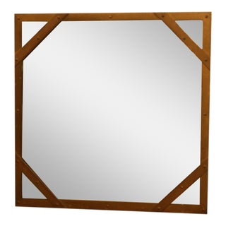 Sarreid Ltd. Studded Square Brass Frame Mirror
