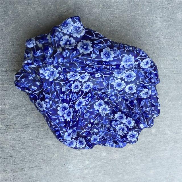 Image of Vintage Blue & White Hands Soap Dish