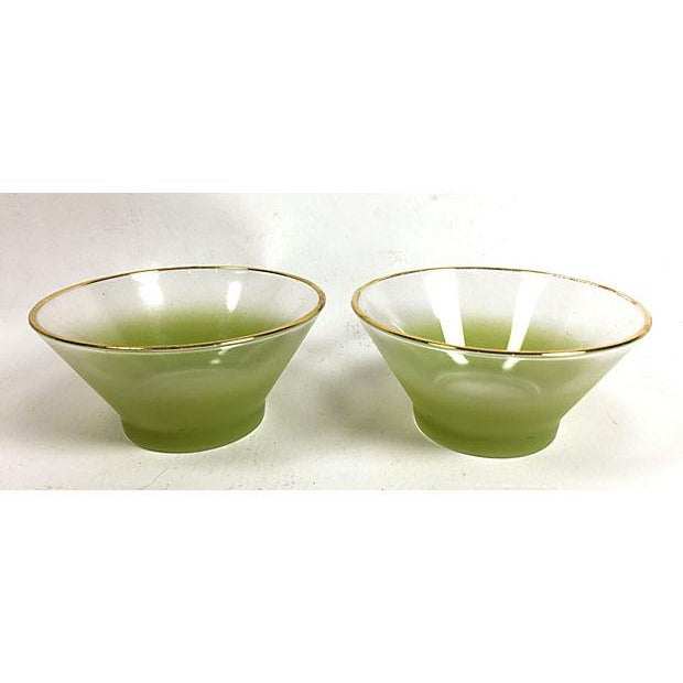 Blendo Green Frosted Glass Serving Set - Image 5 of 5