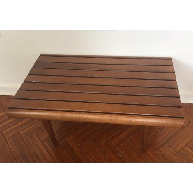 Mid-Century Modern Walnut Slat Bench - Image 5 of 7