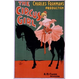 19th-C. The Circus Girl Theater Print