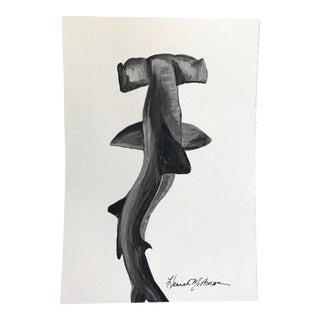 Swaying Hammerhead Shark Painting