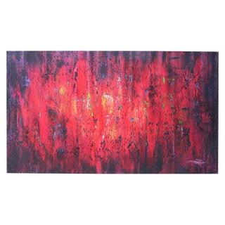 Contemporary Crimson Oil on Canvas