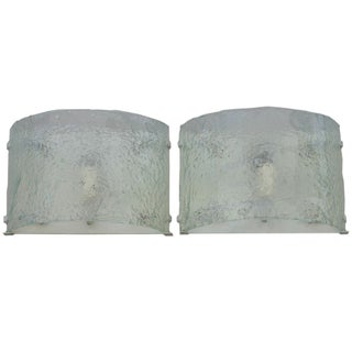 Mazzega Murano Wall Sconces - A Pair