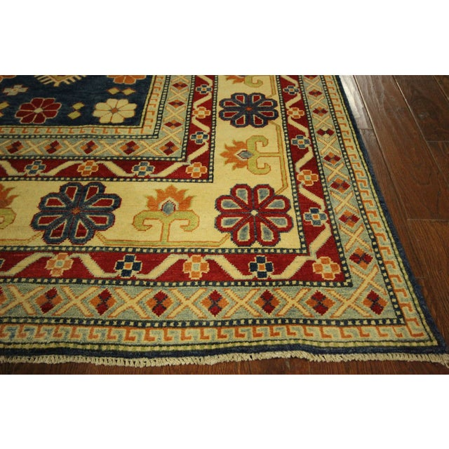 super kazak area rug blue 10 39 x 15 39 chairish. Black Bedroom Furniture Sets. Home Design Ideas